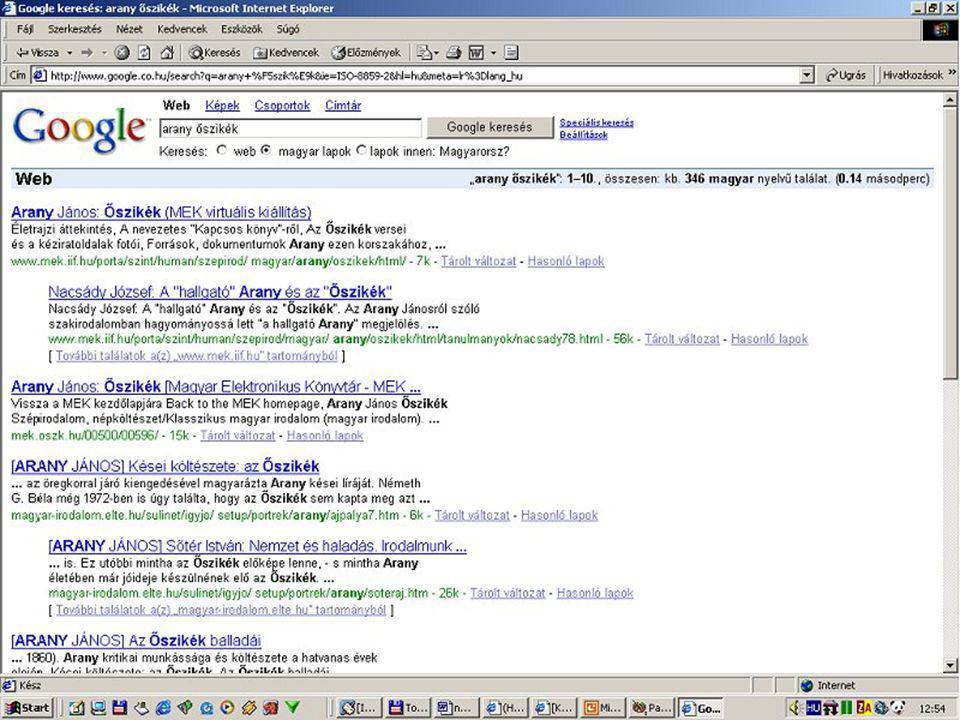 Keresés a Google-ben