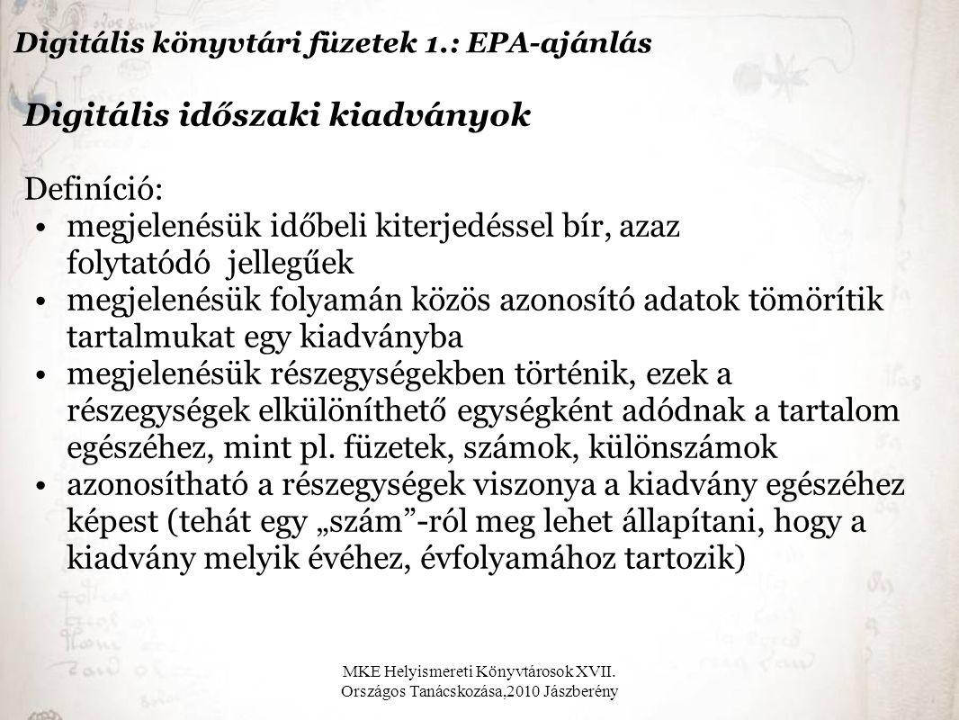 MKE Helyismereti Könyvtárosok XVII.