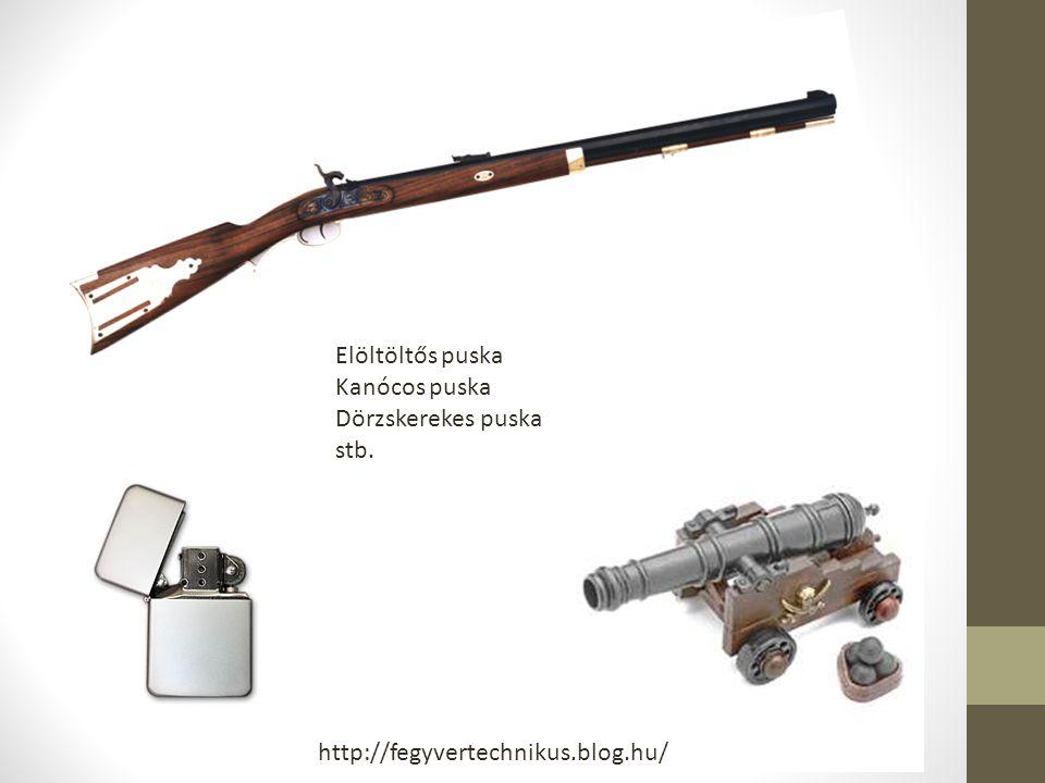 Elöltöltős puska Kanócos puska Dörzskerekes puska stb. http://fegyvertechnikus.blog.hu/