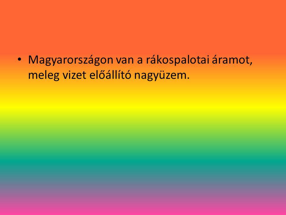 Magyarországon van a rákospalotai áramot, meleg vizet előállító nagyüzem.