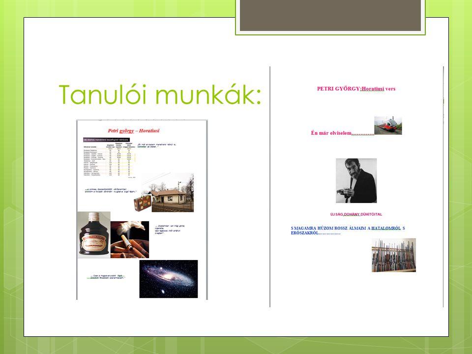 Tanulói munkák:
