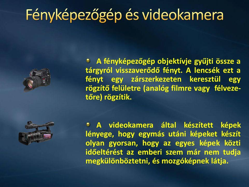 A fényképezőgép objektívje gyűjti össze a tárgyról visszaverődő fényt. A lencsék ezt a fényt egy zárszerkezeten keresztül egy rögzítő felületre (analó