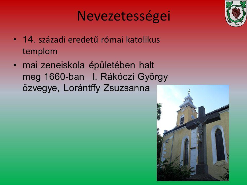 Nevezetességei 14. századi eredetű római katolikus templom mai zeneiskola épületében halt meg 1660-ban I. Rákóczi György özvegye, Lorántffy Zsuzsanna
