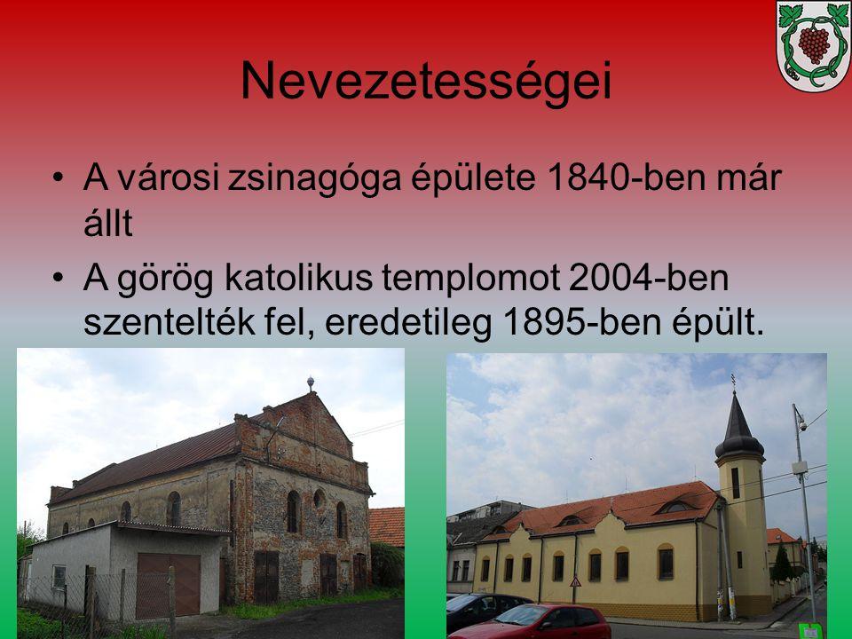 Nevezetességei A városi zsinagóga épülete 1840-ben már állt A görög katolikus templomot 2004-ben szentelték fel, eredetileg 1895-ben épült.