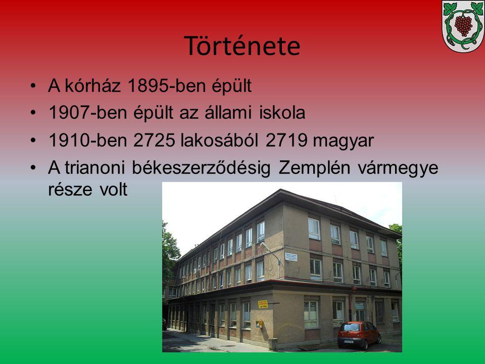 Története Az első bécsi döntés alapján ismét Magyarországhoz tartozott 1938.
