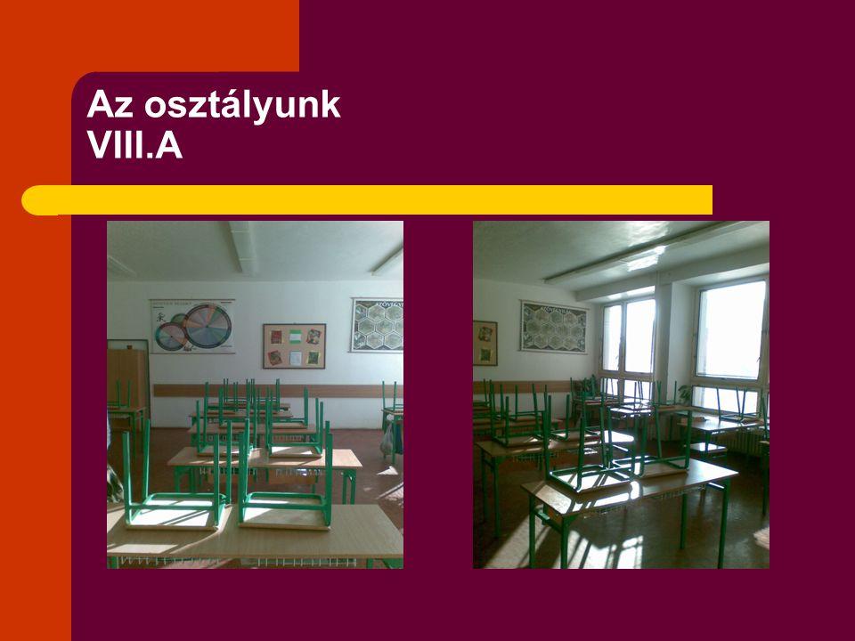Az osztályunk VIII.A