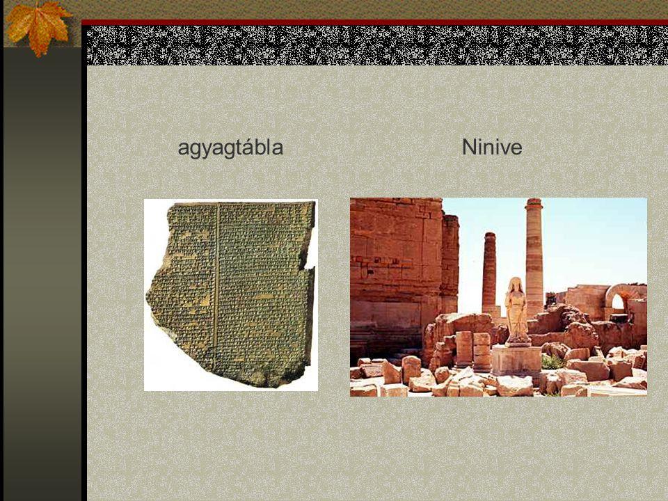 Egyiptom Az egyiptomiak hieroglif írása képszerű jeleket ábrázol.