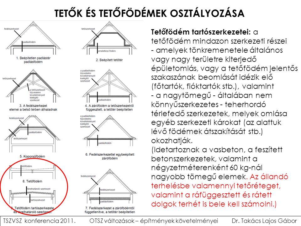 TETŐK ÉS TETŐFÖDÉMEK OSZTÁLYOZÁSA Tetőfödém tartószerkezetei: a tetőfödém mindazon szerkezeti részei - amelyek tönkremenetele általános vagy nagy terü