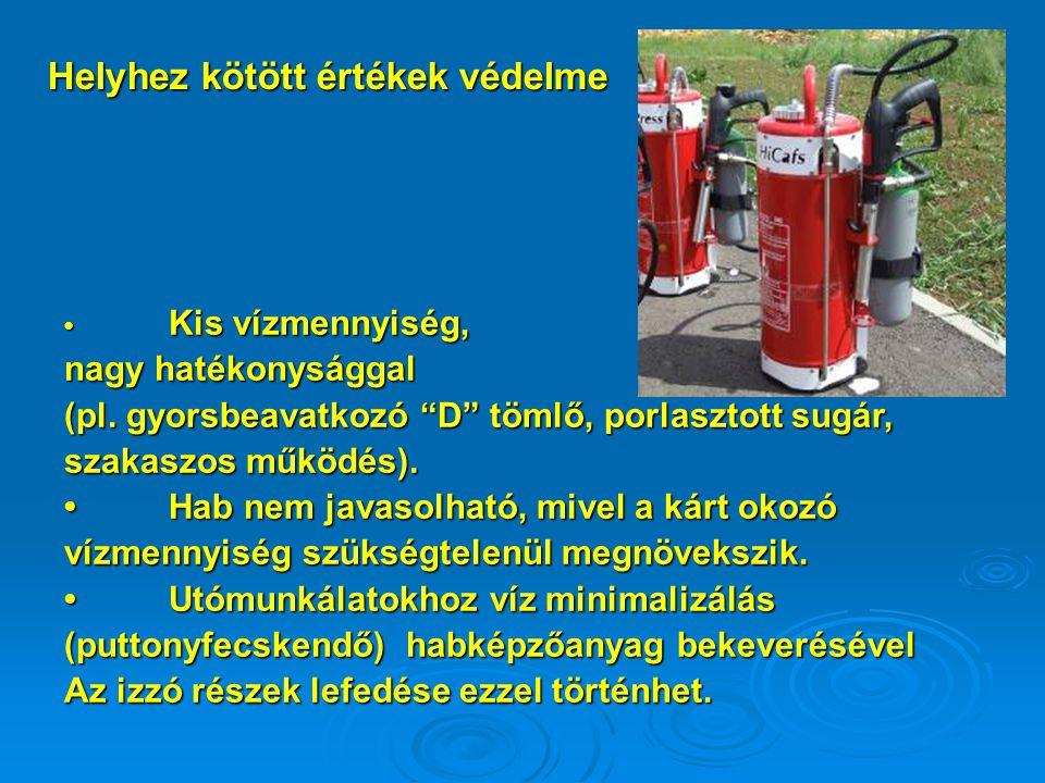 Kis vízmennyiség, Kis vízmennyiség, nagy hatékonysággal (pl.