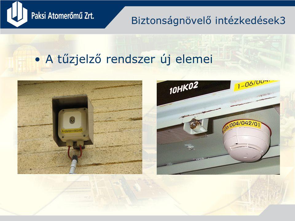 Biztonságnövelő intézkedések3 A tűzjelző rendszer új elemei