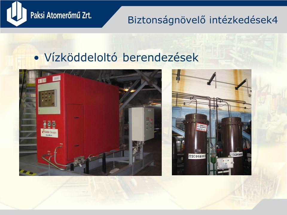 Biztonságnövelő intézkedések4 Vízköddeloltó berendezések