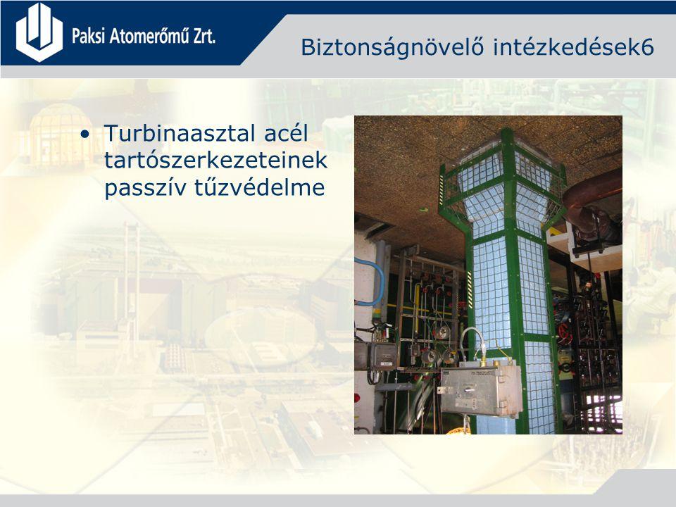 Biztonságnövelő intézkedések6 Turbinaasztal acél tartószerkezeteinek passzív tűzvédelme