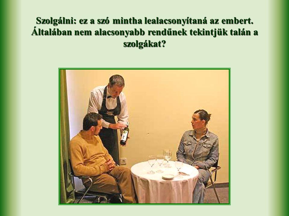 """""""Szeretni azt jelenti, hogy szolgálni. Jézus példát adott nekünk erről"""" – mondta Chiara Lubich egyik beszédében."""