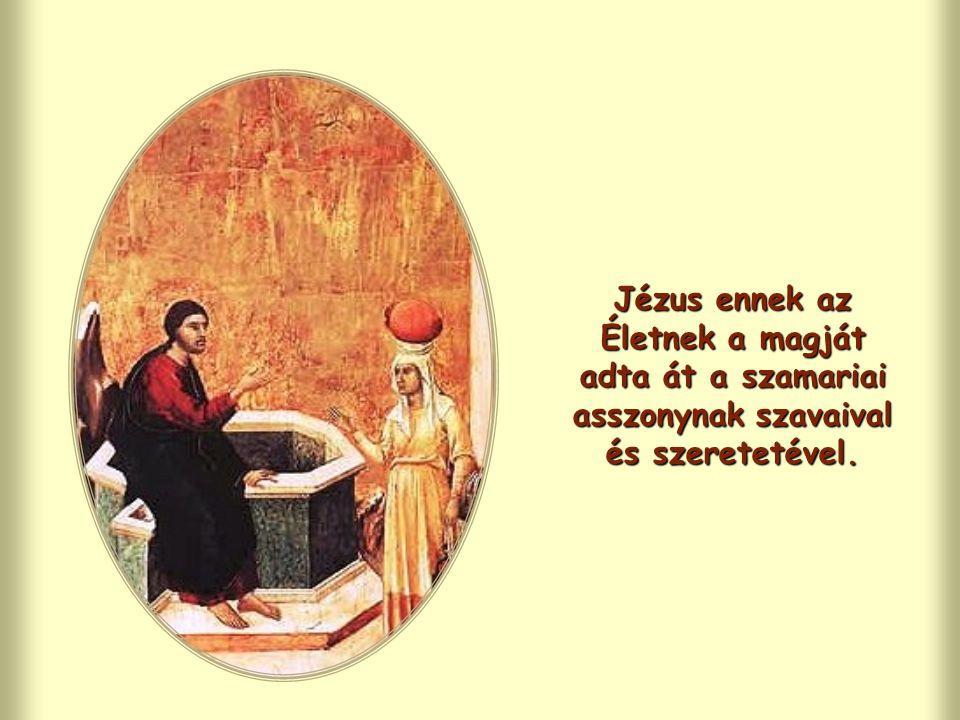 """Jézus eledelének tekinti, hogy az Atya akaratát tegye: gyakorlattá váltja, magába szívja, """"megemészti , azonosul vele, ebből nyer Életet."""