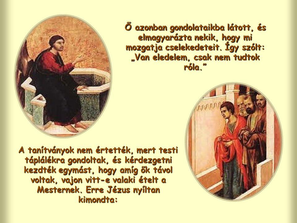 Jézus, miközben a szamariai asszonnyal beszél, felfedi Isten tervét, aki Atya, és azt akarja, hogy minden ember részesüljön az Ő életének ajándékában.