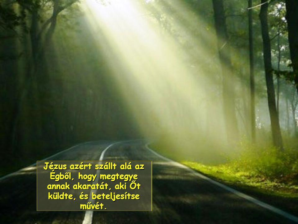 Jézus azért szállt alá az Égből, hogy megtegye annak akaratát, aki Őt küldte, és beteljesítse művét.