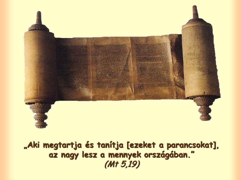 """Jézus minket is arra hív, hogy hirdessük evangéliumát, de mielőtt """"tanítanánk , azt kéri, hogy """"tartsuk is meg szavait."""