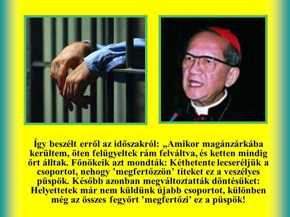 Francesco Saverio Nguyen Van Thuan püspök, akit hite miatt börtönöztek be, 13 évig élt fegyházban. Mégis szabadnak érezte magát, mert mindig megvolt a