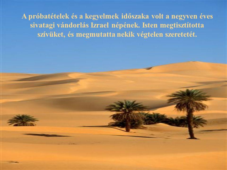 A próbatételek és a kegyelmek időszaka volt a negyven éves sivatagi vándorlás Izrael népének.