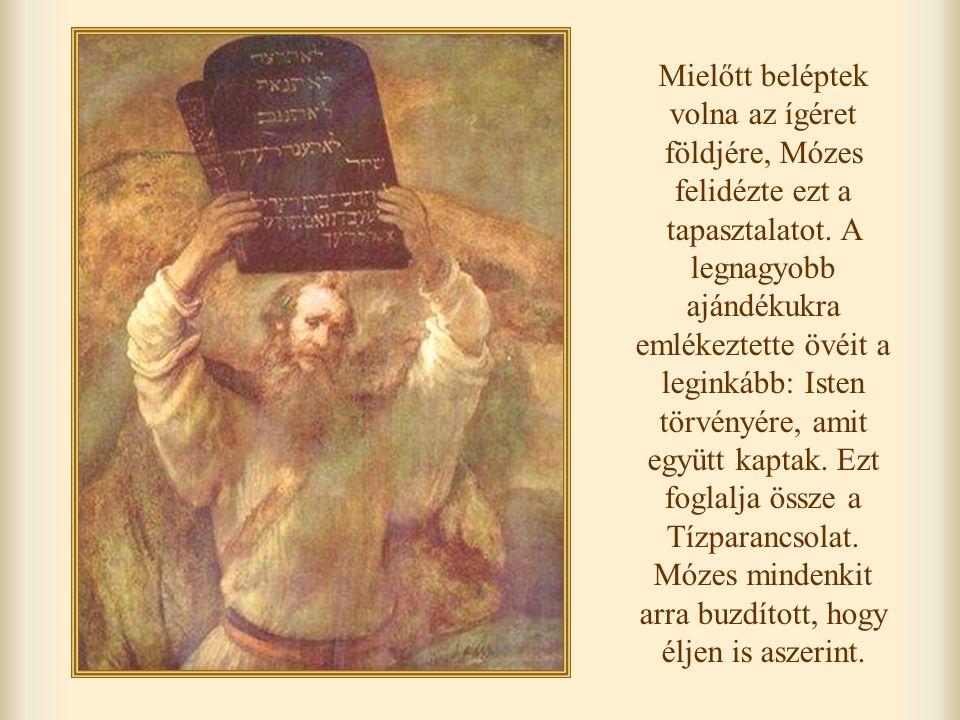 Mielőtt beléptek volna az ígéret földjére, Mózes felidézte ezt a tapasztalatot.