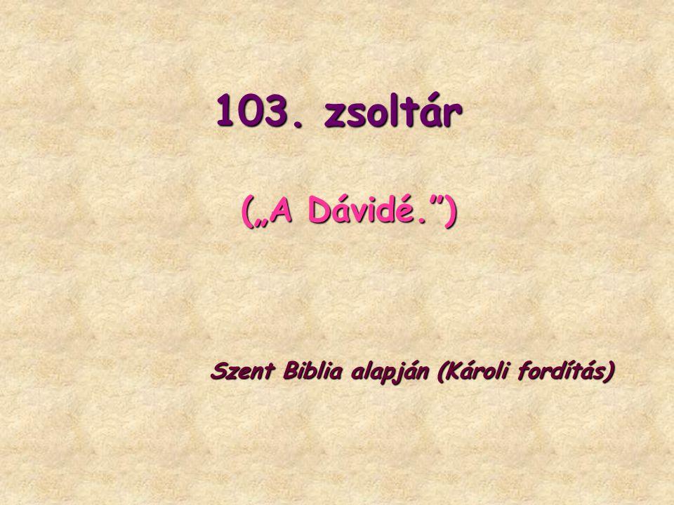 Mert a milyen magas az ég a földtől, olyan nagy az ő kegyelme az őt félők iránt.