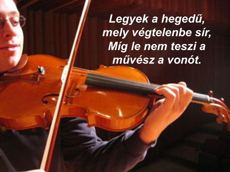 Legyek a hegedű, mely végtelenbe sír, Míg le nem teszi a művész a vonót.