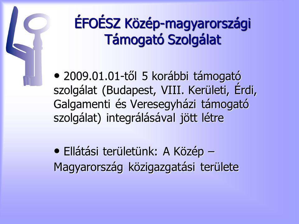 ÉFOÉSZ Közép-magyarországi Támogató Szolgálat 2009.01.01-től 5 korábbi támogató szolgálat (Budapest, VIII.