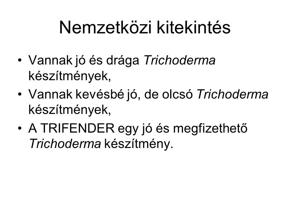 Nemzetközi kitekintés Vannak jó és drága Trichoderma készítmények, Vannak kevésbé jó, de olcsó Trichoderma készítmények, A TRIFENDER egy jó és megfize