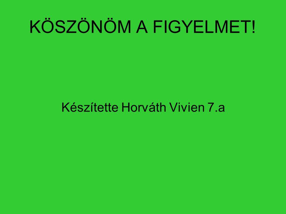 KÖSZÖNÖM A FIGYELMET! Készítette Horváth Vivien 7.a