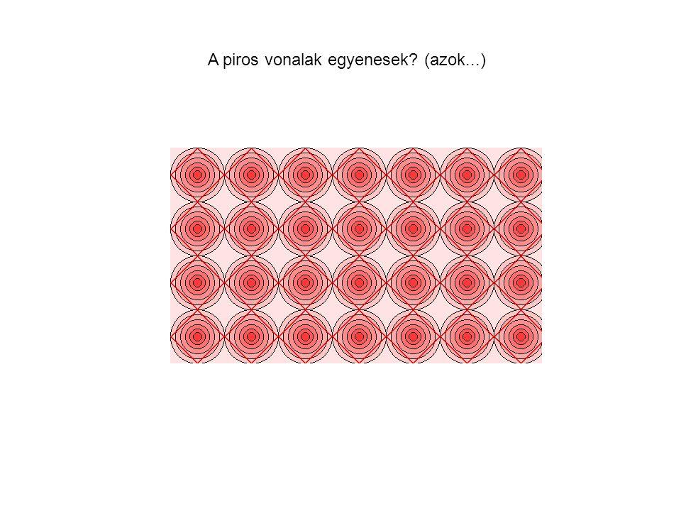 A piros vonalak egyenesek? (azok...)