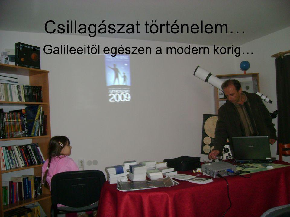 Csillagászat történelem… Galileeitől egészen a modern korig…