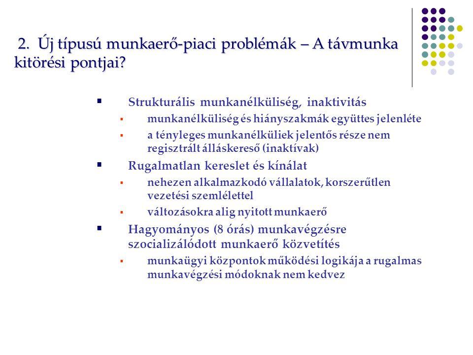 2. Új típusú munkaerő-piaci problémák – A távmunka kitörési pontjai.