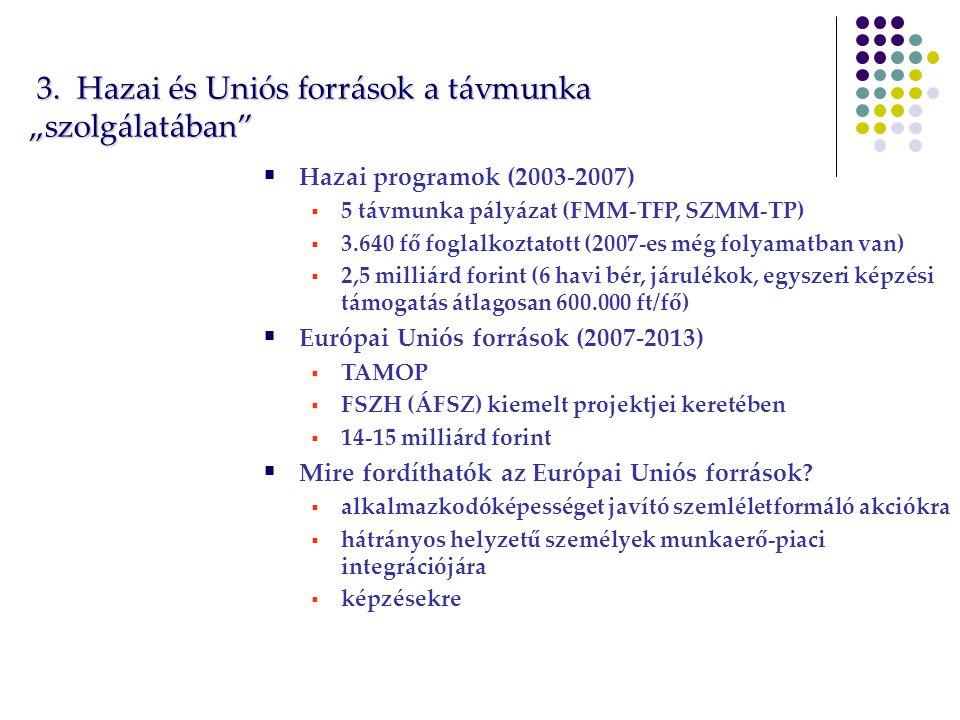"""3.Hazai és Uniós források a távmunka """"szolgálatában 3."""