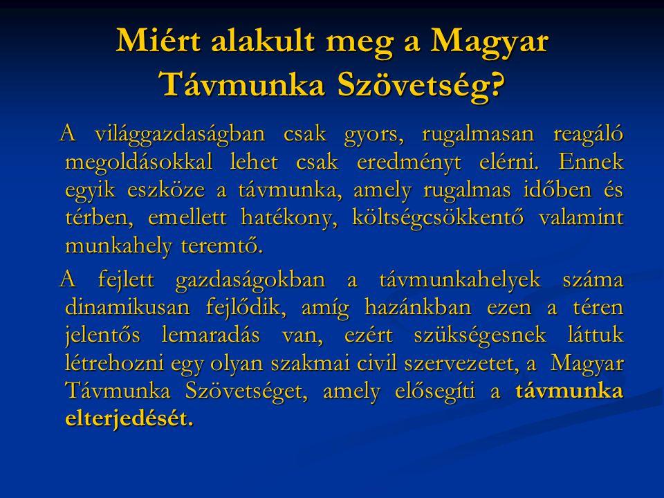 Miért alakult meg a Magyar Távmunka Szövetség.