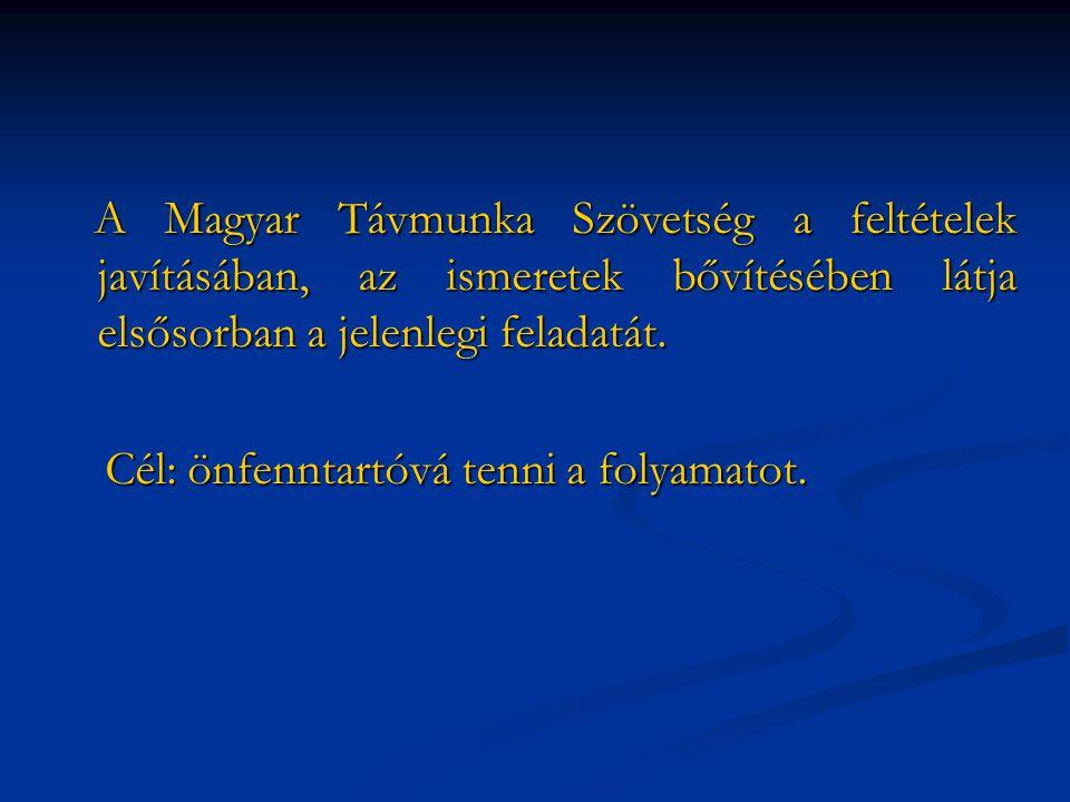A Magyar Távmunka Szövetség a feltételek javításában, az ismeretek bővítésében látja elsősorban a jelenlegi feladatát.