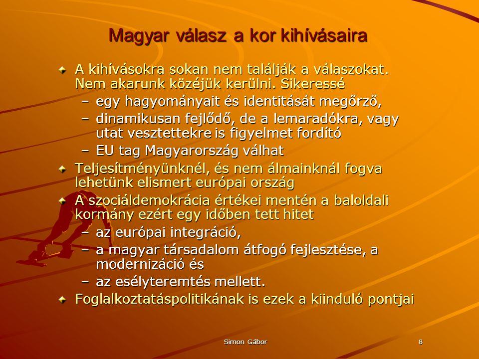 Simon Gábor8 Magyar válasz a kor kihívásaira A kihívásokra sokan nem találják a válaszokat.
