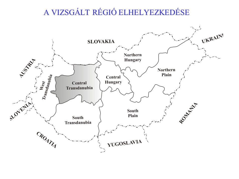 A VIZSGÁLT RÉGIÓ ELHELYEZKEDÉSE