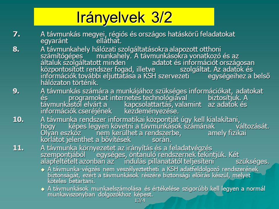 13/4 Irányelvek 3/2 7.