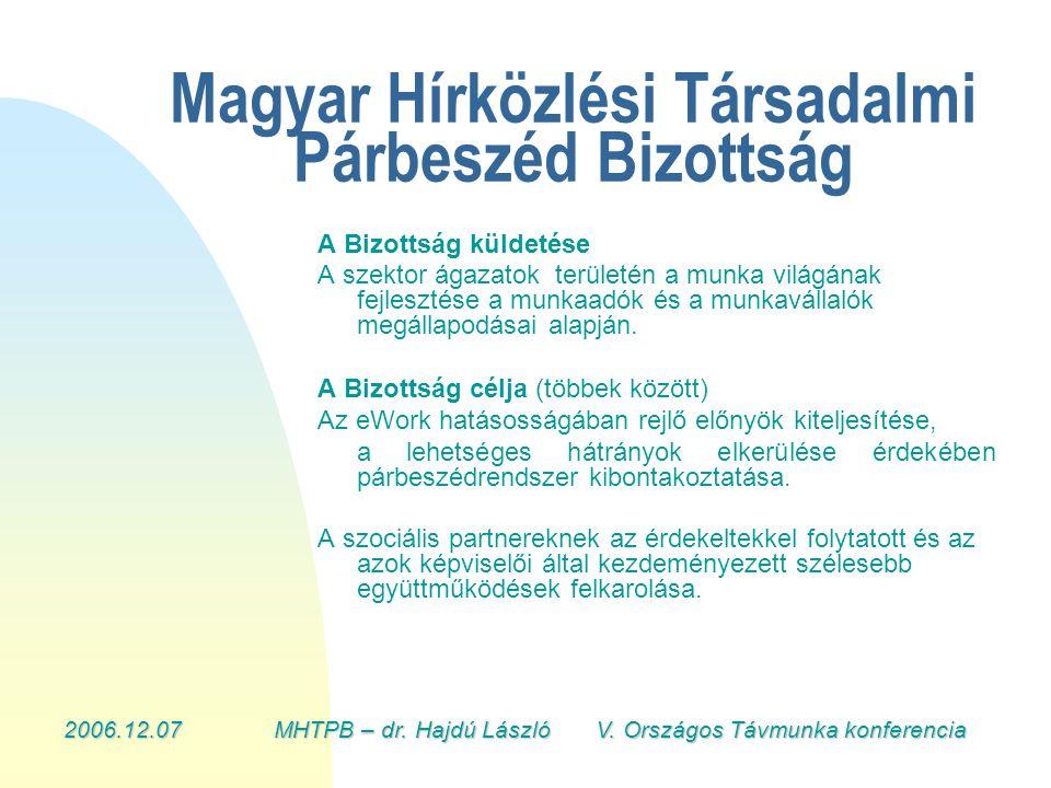 2006.12.07MHTPB – dr. Hajdú László V.