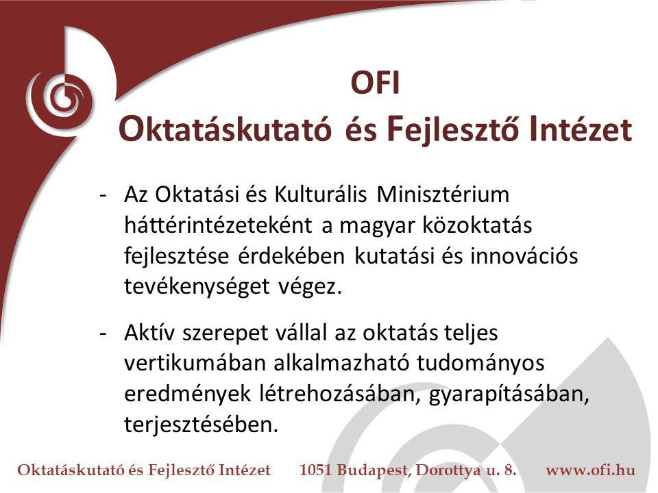 Oktatáskutató és Fejlesztő Intézet 1051 Budapest, Dorottya u.