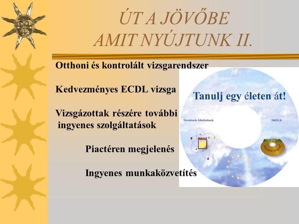 ÚT A JÖVŐBE AMIT NYÚJTUNK II.