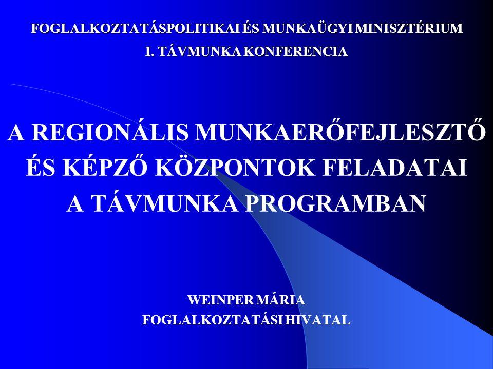 FOGLALKOZTATÁSPOLITIKAI ÉS MUNKAÜGYI MINISZTÉRIUM I.