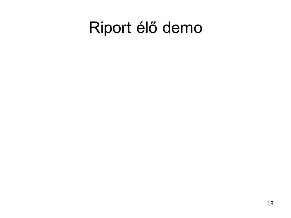 18 Riport élő demo