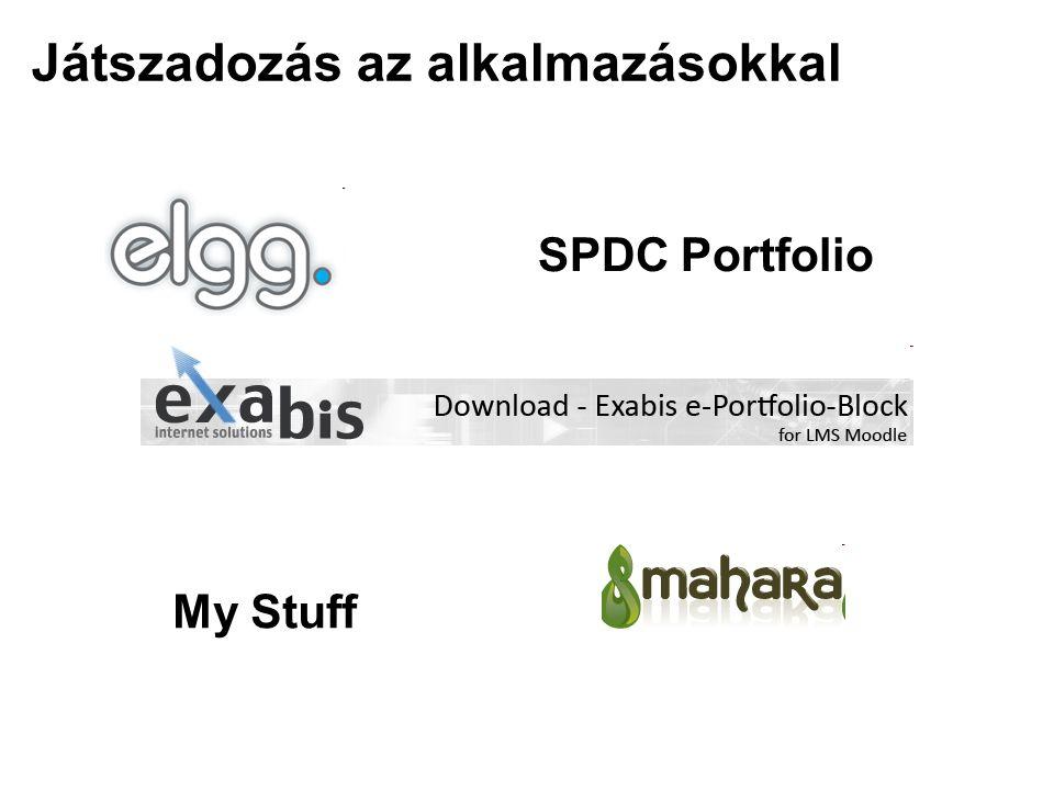 Játszadozás az alkalmazásokkal SPDC Portfolio My Stuff