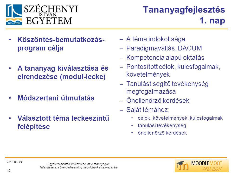 TÁMOP412/C Tananyagfejlesztés 1.