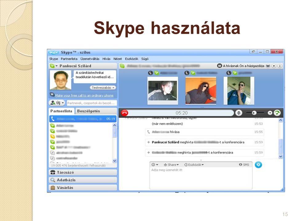 Skype használata 15