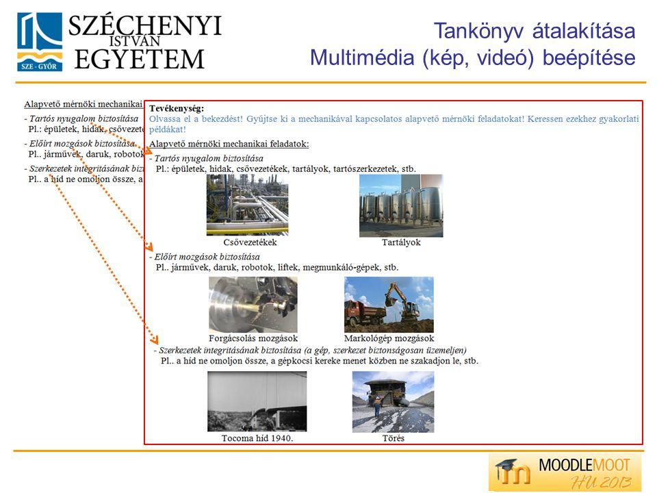Tankönyv átalakítása Multimédia (kép, videó) beépítése