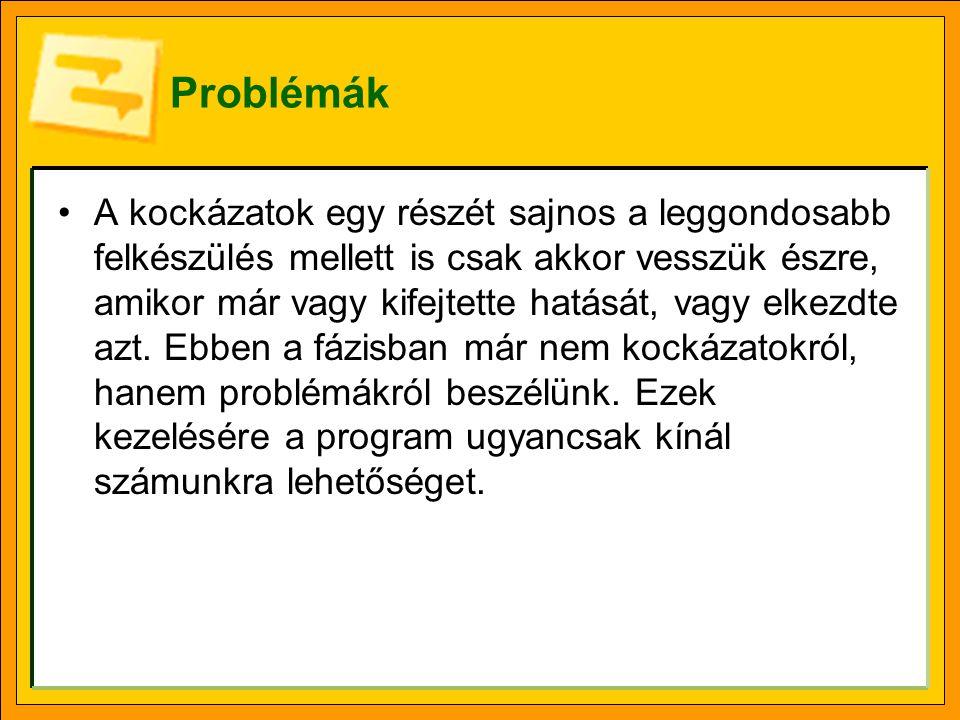 Projektproblémák kezelése a webes felületen Bal oldali menüsáv Projektek (Projects) szakasz, Projektközpont (Projectcenter) lap, Ugrás (Go To) gomb, Problémák (Issues) elem.