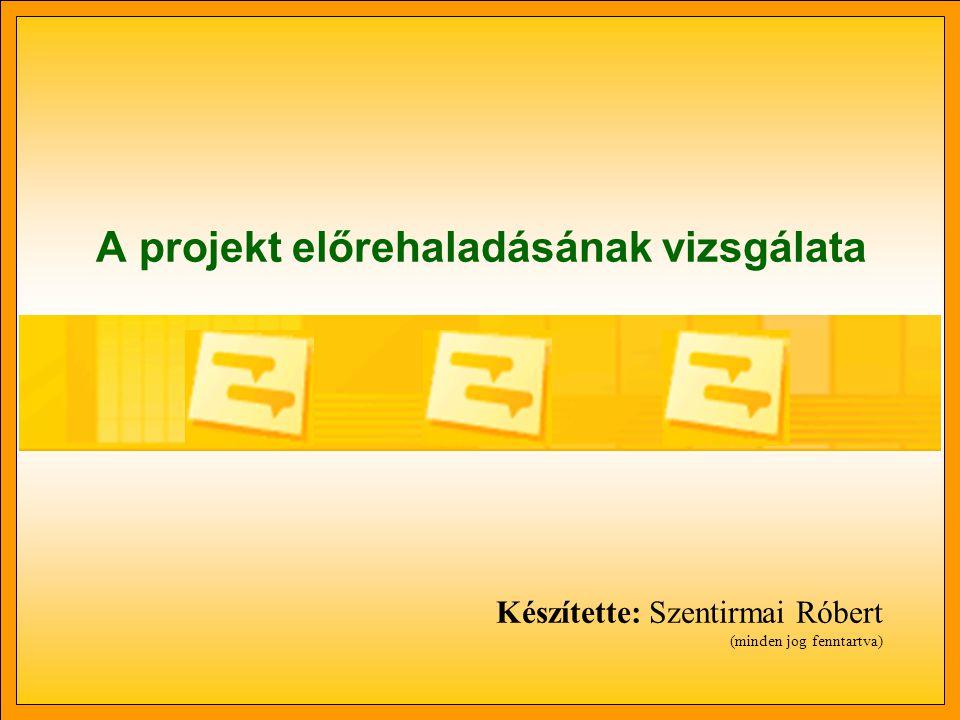 A projekt előrehaladásának vizsgálata Készítette: Szentirmai Róbert (minden jog fenntartva)