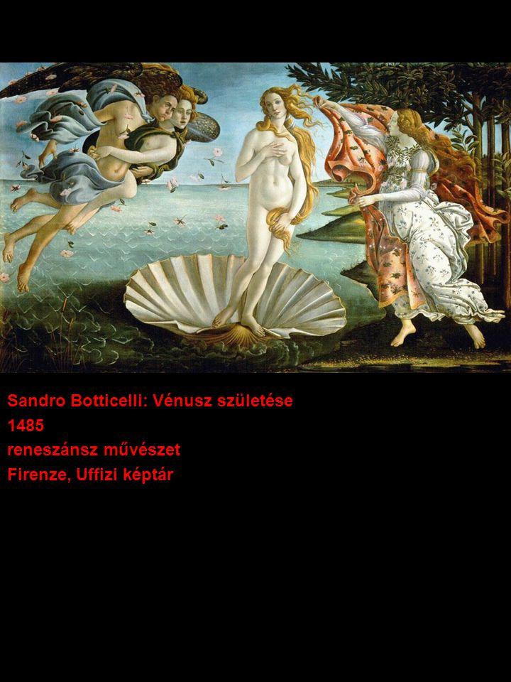 Sandro Botticelli: Vénusz születése 1485 reneszánsz művészet Firenze, Uffizi képtár